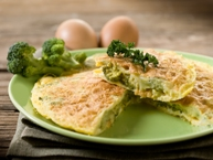 Broccoli, Cheese and Ham Omelet