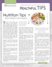 Nutrition Tips after Weight Loss Surgery